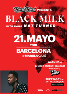FLAVA FLAVA presenta BLACK MILK & NAT TURNER BAND