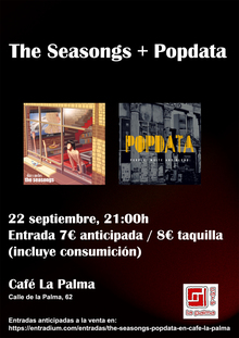 The Seasongs + Popdata en Café La Palma