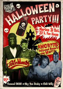Pretty Thing Club: Halloween Party! PELO MONO + AMORFITS & DJ's