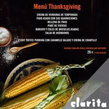 Menú Thanksgiving