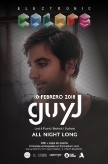 Electronic Colors presenta Guy J ( All Night Long)
