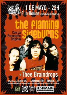 PrettyThingClub: THE FLAMING SIDEBURNS (Finland) + Thee Braindrops & Dj's
