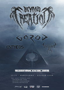 Beyond Creation · Gorod · Entheos · Brought By Pain - Barcelona 2018