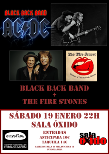 AC/DC (Black Back Band) + Rolling Stones (The Fire Stones) en Guadalajara
