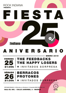 25º Aniversario Rock Indiana: Feedbacks + Happy Losers